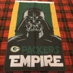 Brand new Green Bay Packers banner flag
